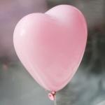 """ลูกโป่งหัวใจ เนื้อสแตนดาร์ทสีชมพูอ่อนพาสเทล ไซส์ 12 นิ้ว แพ็คละ 10 ใบ (Heart Latex Balloon - Light Pink Pastel Color 12"""")"""