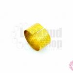 ปลอกนิ้ว สีทอง (1วง)
