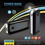 แบตเตอรี่สำรองแบบพกพา Power Bank : 5,600 mAh ชาร์จไอโฟนได้ 3 รอบ