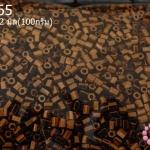 ลูกปัด MATSUNO ปล้องสั้น สีทองแดง 2X2มิล(100กรัม)