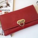 พร้อมส่ง กระเป๋าเงินใบยาว MUSE สีแดง งานหนังแท้ทั้งใบ แบบสวยเก๋ ค่ะ