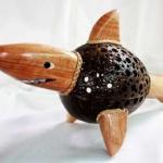 Coconut Shell Lamp (Whale) โคมไฟกะลามะพร้าวปลาฉลาม