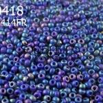 ลูกปัด Miyuki สีน้ำเงินด้านออกรุ้ง รหัส 414FR (1ถุง/100กรัม)