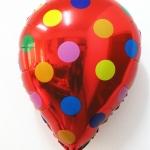 ลูกโป่งฟลอย์รูปหยดน้ำ สีแดงลายจุด - Water Drop Shape Foil Balloon Polka Dot Red Color / Item no. TL-G035