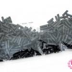 ลูกปัดจีน ปล้องยาว สีดำ 2X7มิล (5กรัม)