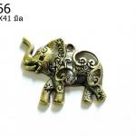 จี้รูปช้าง สีทองเหลือง 31X41 มิล (1ชิ้น)