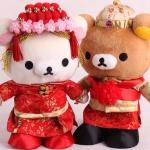 ตุ๊กตาเจ้าบ่าวเจ้าสาว Rilakkuma Korilakkuma ชุดจีน
