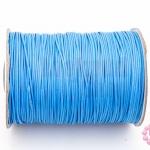เชือกค๊อตต้อนเคลือบ สีฟ้า 1.0มิล(1ม้วน)(100หลา)