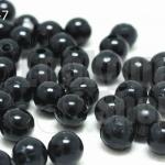 ลูกปัดมุก พลาสติก สีดำ 6มิล (1ขีด/100กรัม)