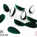 เพชรแต่ง หยดน้ำ สีเขียวเข้ม ไม่มีรู 8X18มิล(10ชิ้น)