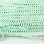 ปอมเส้นยาว (เล็ก) สีเขียวอ่อน กว้าง 1ซม(1หลา/90ซม)