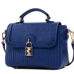 กระเป๋าแฟชั่นหนัง pu แบรนด์ axixi สีน้ำเงินสด (รับประกันเหมือนแบบ 100%)