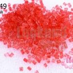 ลูกปัดจีนปล้องสั้นเจียร สีแดงใส 2X2มิล (5กรัม)