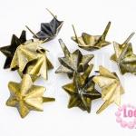 เป็กติดเสื้อ รูปดาว6แฉก สีทองเหลือง 13X15 มิล(10ชิ้น)