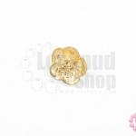 กระดุมโลหะ ดอกซากุระ สีทอง 15มิล(1ชิ้น)