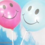 """ลูกโป่งกลมพิมพ์ลายหน้ายิ้ม ไซส์ 12 นิ้ว แพ็คละ 10 ใบ สีชมพูเข้ม (Round Balloons 12"""" - Printing Smiley latex balloons Deep Pink color)"""