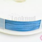 ลวดสลิงสำหรับร้อยลูกปัดจีน สีฟ้า เบอร์38 (1ม้วน)