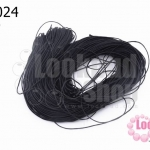เชือกคอตตอล No.1.0 สีดำ (1ใจ/100หลา)