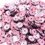 เลื่อมปัก กลม สีม่วงดิสโก้ 9มิล(5กรัม)