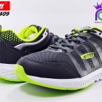 รองเท้าผ้าใบ วิ่ง บาโอจิ ชาย รุ่นDK99409 สีเทา-เขียว เบอร์41-45