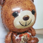 ลูกโป่งฟลอย์ ตุ๊กตาหมีสีน้ำตาล - Cute Teddy Bear Brown color Foil Balloon / Item No. TL-B027