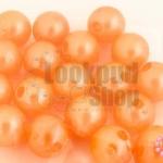 ลูกปัดมุก พลาสติก สีส้มพีช 10มิล (1ขีด/100กรัม)