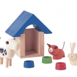 ของเล่นไม้ ของเล่นเด็ก ของเล่นเสริมพัฒนาการ Pets & Accessories ชุดสัตว์เลี้ยง (ส่งฟรี)