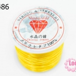 เอ็นยืด สีเหลือง ม้วนใหญ่ (1ม้วน/30หลา)