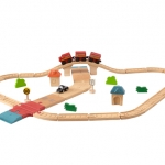 ของเล่นไม้ ของเล่นเด็ก ของเล่นเสริมพัฒนาการ Road & Rail Set ชุดระบบรถ-รางมาตรฐาน (ส่งฟรี)