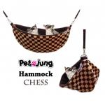 PJ-HAM001-BRCH PetsJunG - Hammock เปลญวน ลายหมากรุก (35x12cm.)