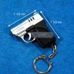 ไฟแช็คปืนออโต้สีเงิน พวงกุญแจ