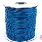 เชือกค๊อตต้อนเคลือบ สีน้ำเงินเข้ม 1.5มิล(1ม้วน)(100หลา)