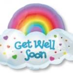 ลูกโป่งฟลอย์นำเข้า Get Well Rainbow / Item No. AG-11075 แบรนด์ Anagram ของแท้