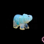หินมูนสโตน ช้าง 20X37มิล (1ชิ้น)
