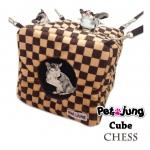 PJ-CUB001-BRCH PetsJunG - Cubes ลูกเต๋า ลายหมากรุก