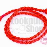 สร้อยคอเชือกถักเกลียว สีแดง 41ซม(1เส้น)