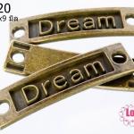 จี้ทองเหลือง Dream 35x9 มิล