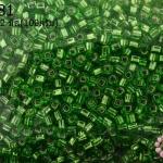 ลูกปัด MATSUNO ปล้องสั้น สีเขียวอ่อน 2X2มิล(100กรัม)