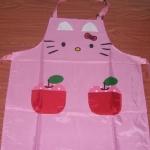 ผ้ากันเปื้อน คิตตี้ สีชมพูน่ารักๆๆๆ