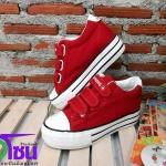 รองเท้าผ้าใบแฟชั่นเกาหลีเสริมส้น สีแดง รุ่นH006 เบอร์36-40