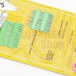 ชุดเข็ม แผงสีเหลือง 1แผง