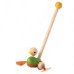 ของเล่นไม้ ของเล่นเด็ก ของเล่นเสริมพัฒนาการ Push-Along Duck (ส่งฟรี)