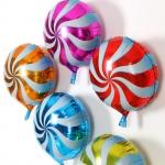 ลูกโป่งฟลอย์ทรงกลม ลายลูกกวาด มีหลายสีกรุณาระบุ ไซส์ 18 นิ้ว - Candy Round Shape Foil Balloon / Item No. TL-G022