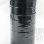 ริบบิ้นผ้าซาติน สีดำ 20มิล(10ม้วน)
