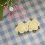 กระดุมเรซิน รูปดอกกุหลาบ ทำจากเรซินเนื้อดี สีขาว ++ ราคาต่อ 1 เม็ด ++ ขนาด 3 ซม