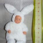 Anne Geddes Baby dolls - Bunny   สูง 9 นิ้ว   สูง 9 นิ้ว หน้ายางแปลงร่างเป็นกระต่าย น้อยสีขาว