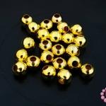 ลูกปัดโลหะ สีทอง กลม 6มิล (1ขีด)