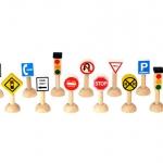ของเล่นไม้ ของเล่นเด็ก ของเล่นเสริมพัฒนาการ Set of Traffic Sign & Lights (USA) ชุดสัญญาณจราจร (ส่งฟรี)