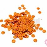 เลื่อมปัก กลม สีน้ำตาลอมส้มดิสโก้ 5มิล(5กรัม)