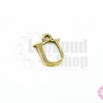 จี้ทองเหลือง ตัวอักษร U 11X14 มิล(1ชิ้น)